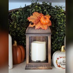 Decorated Autumn Lantern for Farmhouse Fall Decor